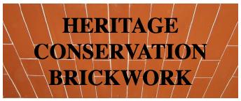 Heritage conservation brickwork logo